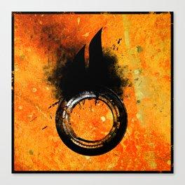 Hazard pictogram - Oxidizing Canvas Print