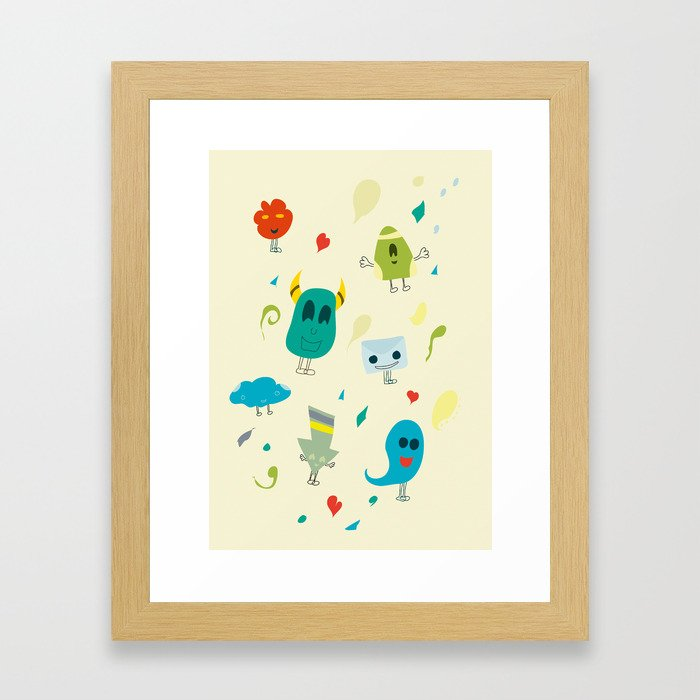 I mostri Framed Art Print
