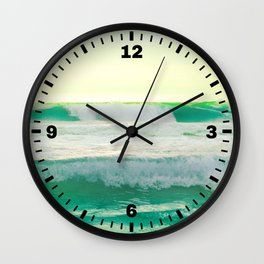 Turquoise Ocean Wall Clock