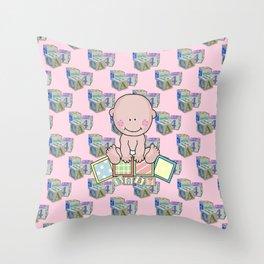 Babies 1st Year Throw Pillow