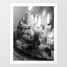 Wax and fire altar Art Print