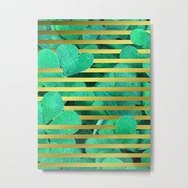 Clover and Stripes Geometric Illustration Metal Print