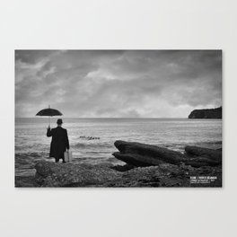 L'homme au parapluie - La cote surprise - Percé  Canvas Print