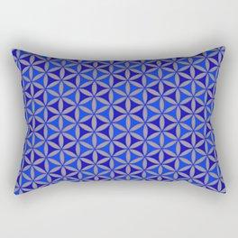 Flower of Life Blue Pattern Rectangular Pillow