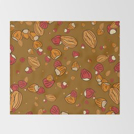 Nutty about Nuts Throw Blanket