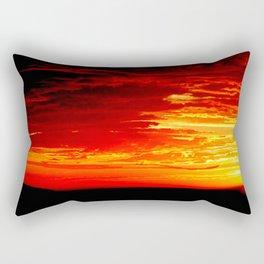 Fiery Sky Rectangular Pillow
