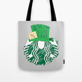 Starbucks 'We're All Mad Here' Tote Bag