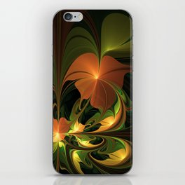 Fantasy Plant, Abstract Fractal Art iPhone Skin