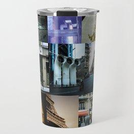Collage of Paris Street View Travel Mug