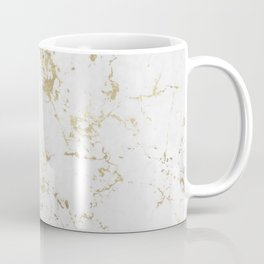 White and gold faux marble Coffee Mug