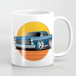 Classic Sixties American Big Muscle Car Cartoon Illustration Coffee Mug