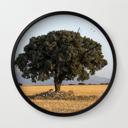 The lone tree Wall Clock
