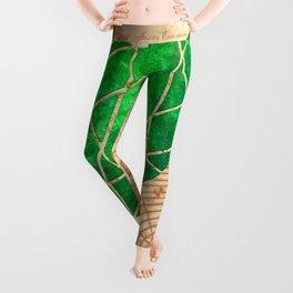 Magical Emerald - Illustration Gems Leggings