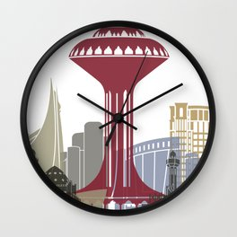 Khobar skyline poster Wall Clock