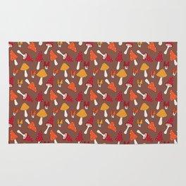 Doodle Mushroom - Fall Pattern Rug