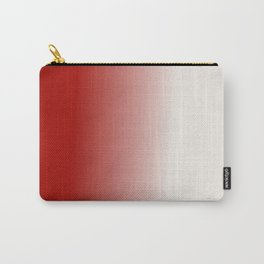 Ombre in Red White Carry-All Pouch