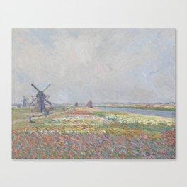 Tulip Fields near The Hague Canvas Print