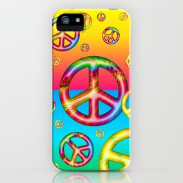 Crazy Kids Colors, Peace Out iPhone Case