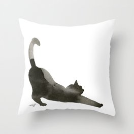 I Love Cats No.1 by Kathy Morton Stanion Throw Pillow