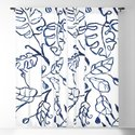 Tropical Plant Boho Chinoiserie Blue and White by jenniferrizzo