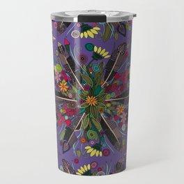 bohemian posy violet Travel Mug