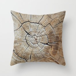Tree rings of time Throw Pillow