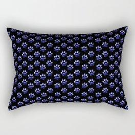 Blue GalaxyPaw Print Rectangular Pillow