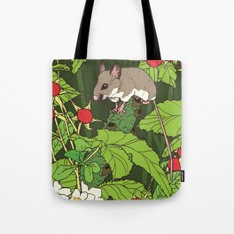 Mouse & Thimbleberry Tote Bag