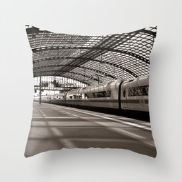 Train-Station of Berlin Throw Pillow