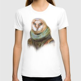 Animals - Funny Owl Painting T-shirt