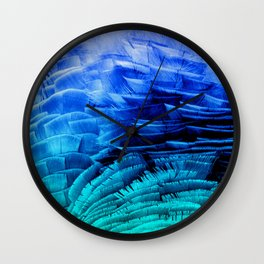 RUFFLED BLUE Wall Clock