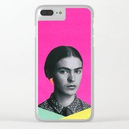 Modern Frida Clear iPhone Case