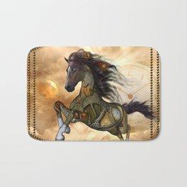 Steampunk, awesome steampunk horse Bath Mat