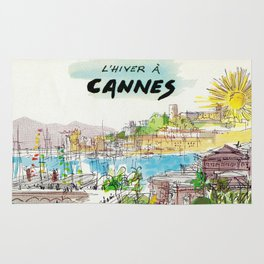 Winter In Cannes Rug