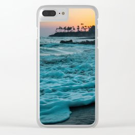 The Sunset Shore (Color) Clear iPhone Case