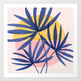 Both Sides of The Story / Tropical Palm Art Art Print