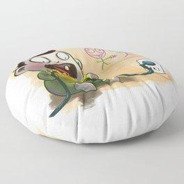 Babies like to bite stuff Floor Pillow