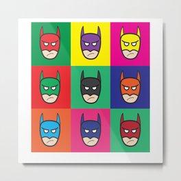 Bat-Popart-Man Metal Print