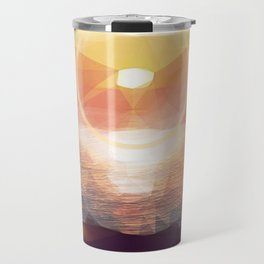 Winged Mediterranean Sunrise with circles and triangles Travel Mug