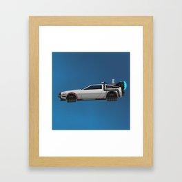 Back to the Future DeLorean 2 Framed Art Print
