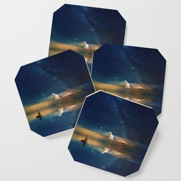 Sailboat in Space (Color) Coaster