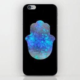 Watercolor Splatter Hamsa Hand iPhone Skin