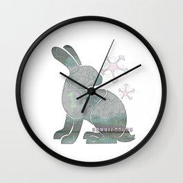 2+2BunnyFooFoo (white) Wall Clock