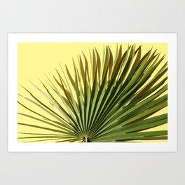 Palm on Yellow Art Print