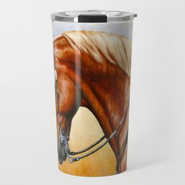 Western Sorrel Quarter Horse Travel Mug