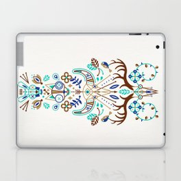La Vie & La Mort – Turquoise and Brown Laptop & iPad Skin