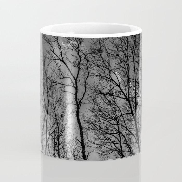 Black and white high naked trees Coffee Mug