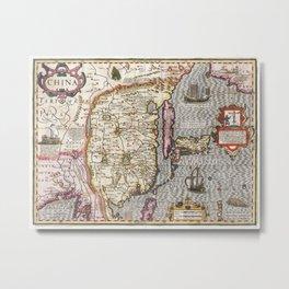 Map of China - Mercator - 1606 Metal Print