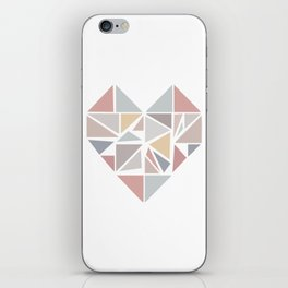 Origami heart iPhone Skin