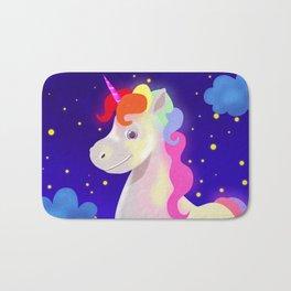 Magical rainbow unicorn Bath Mat